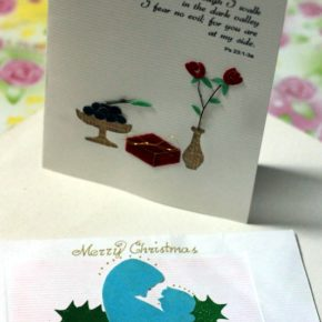 Handmade Card featuring Sinamay and Alambrillo branch