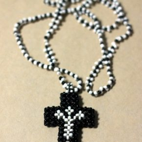 Beaded Crucifix necklace