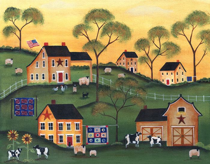 Americana Sunrise Farm of Yesteryear - Cheryl Bartley